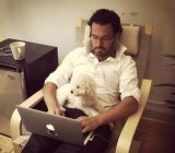 Boundless founder Ariel Diaz with his dog.