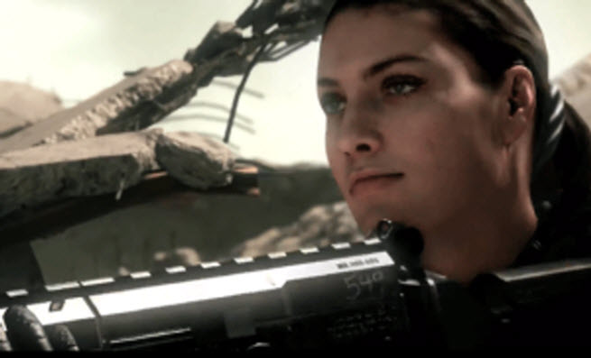 Call of Duty: Ghosts' woman soldier character.