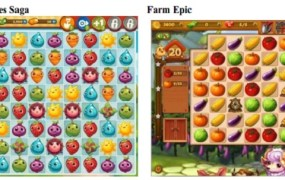 Farm Heroes Saga side by side with Farm Epic.