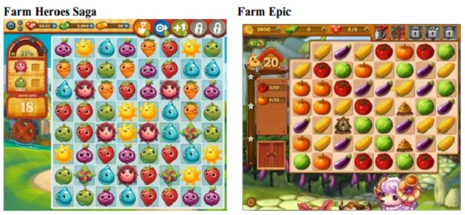 Farm Heroes Saga side by side with Farm Epic