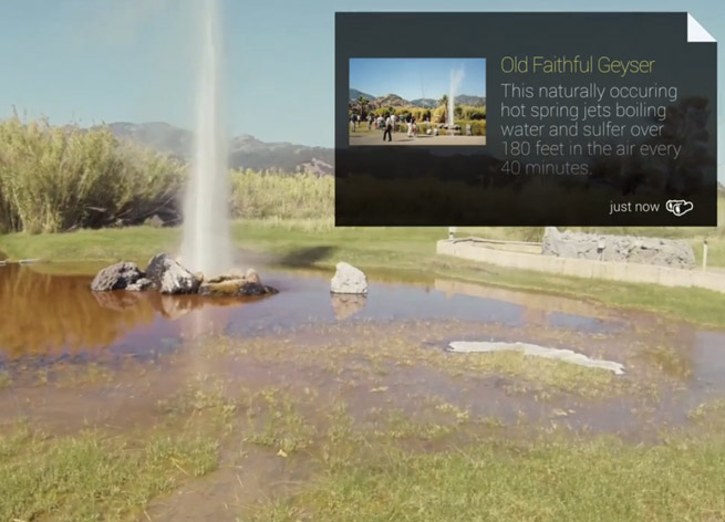 The Field Trip app on Google Glass
