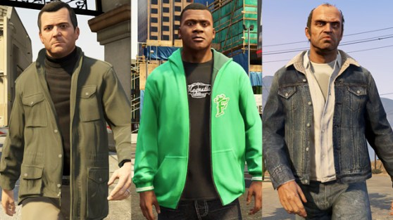 Some special outfits unique to the Grand Theft Auto V Special Edition.