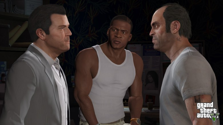 Grand Theft Auto V's main characters, Michael, Franklin, and Trevor may not look so good on the digital version for the PlayStation 3.