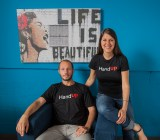 HandUp cofounders Zac Witte and Rose Broome