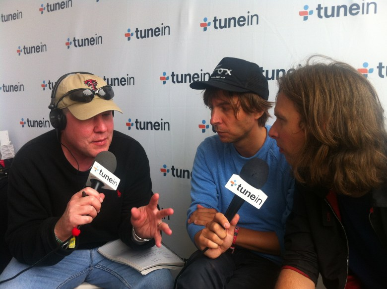 Phoenix make an appearance at TuneIn's radio tent at Outside Lands