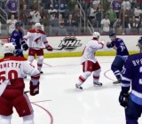 A fight in NHL 14.