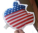 An Apple-USA logo, made in China.