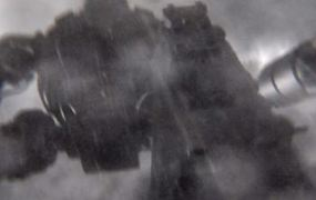 A blurry, gigantic robot from a new Call of Duty: Black Ops II trailer.
