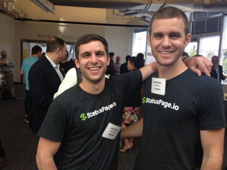 The StatusPage founders at demo day.