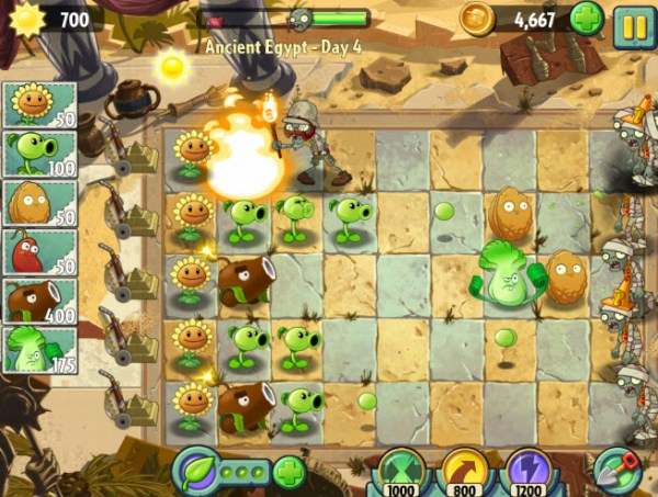 Plants vs. Zombies 2. Ancient Egypt Day 4