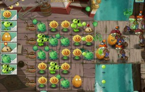 Plants vs. Zombies 2. Pirate battle.
