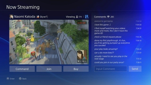 PlayStation 4's video-sharing features.
