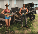 Outfits and weapons from Saints Row IV's Grass Roots DLC.