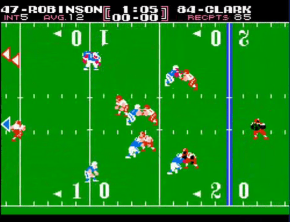 The Tecmo Bowl football game for NES.