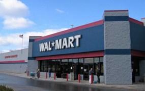 A Walmart retail store.
