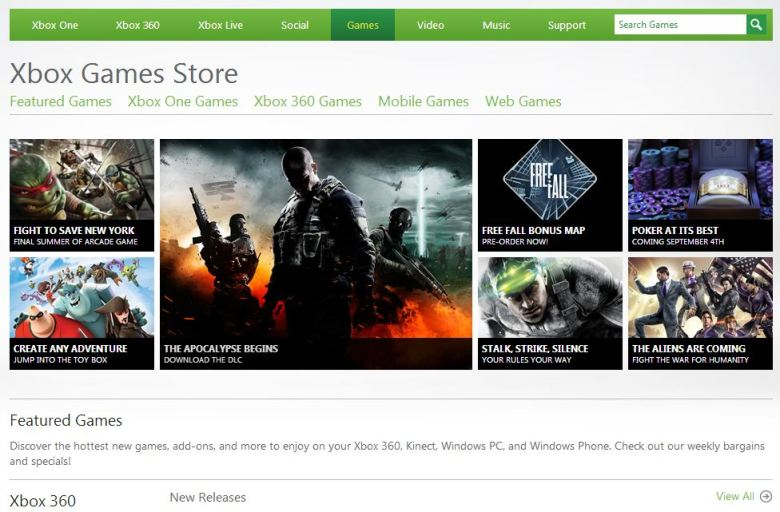 Xbox Live Marketplace is now the Xbox Games Store.