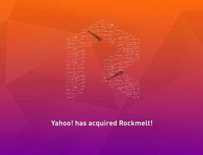 Yahoo has bought Rockmelt