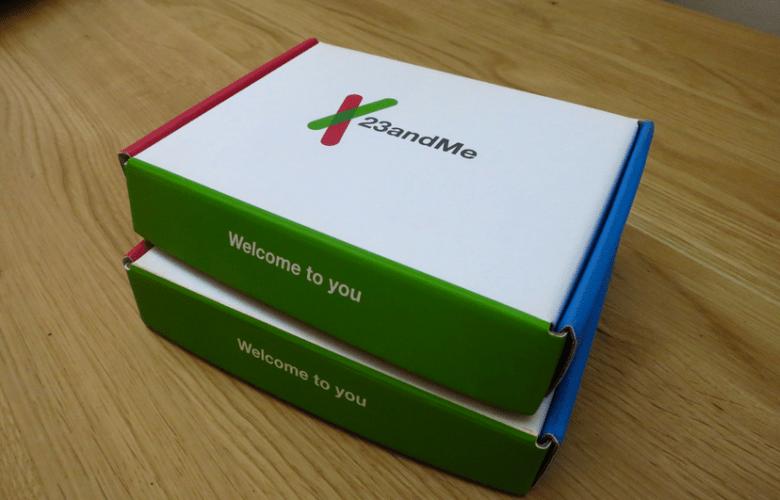 A 23andMe testing kit.