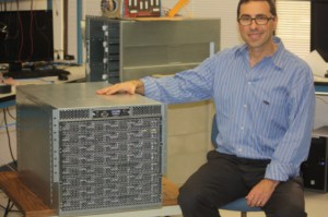 Andrew Feldman with original SeaMicro box