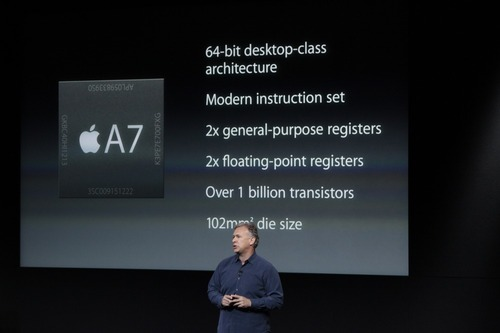 Phil Schiller introducing the A7 chip