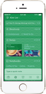 Evernote iOS 7 app