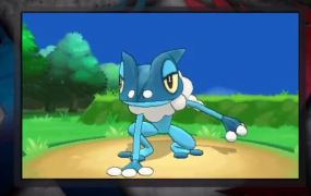 Pokémon X and Y's Froakie evolves into Frogadier.