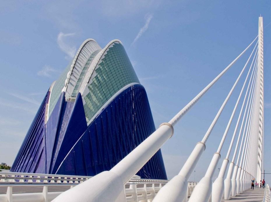Bridge and buildings in Santiago