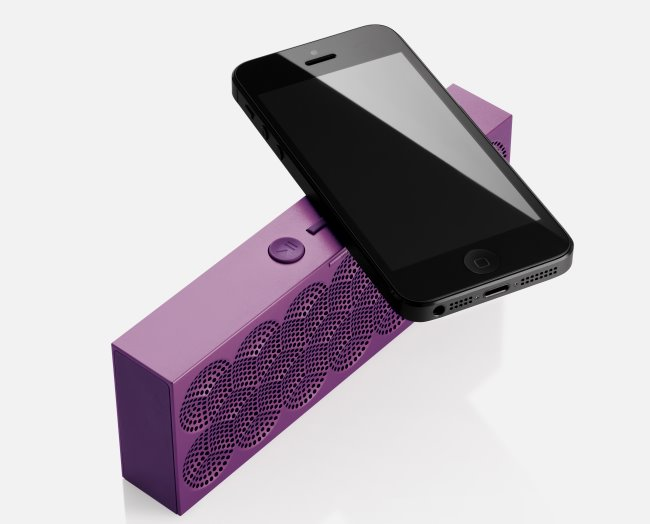 Mini Jambox next to an iPhone