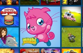 Moshi Monsters affiliate ad on Kizi.com.