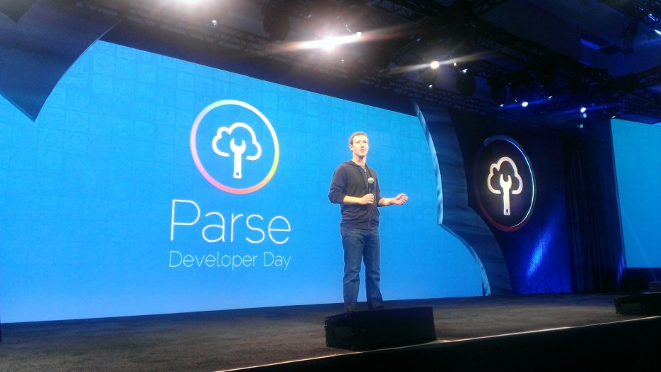 Mark Zuckerberg speaks at the Facebook Parse Developer Day in 2013.