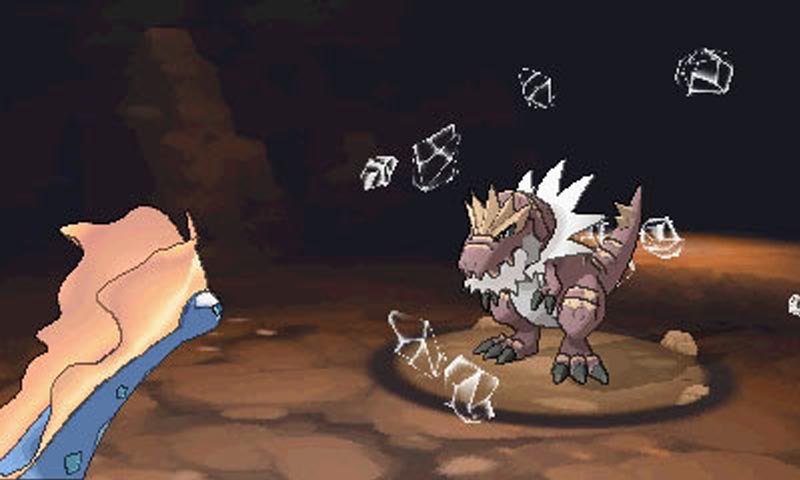 Two fossil creatures battling it out in X and Y.