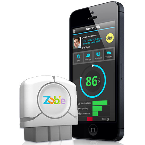 The Zubie Key and iPhone app.