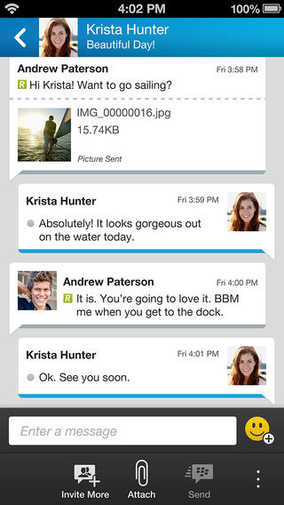 BBM on iPhone