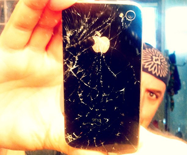 A cracked iPhone