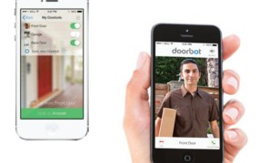 DoorBot app shows you a video view of who is at your door.