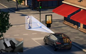 Technology being tested by Ford could help keep you from running over clueless pedestrians talking on cellphones.