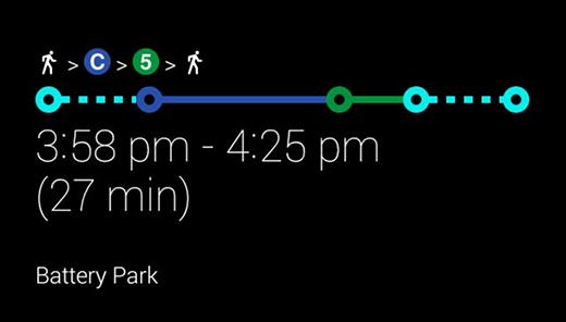 Google Glass public transit