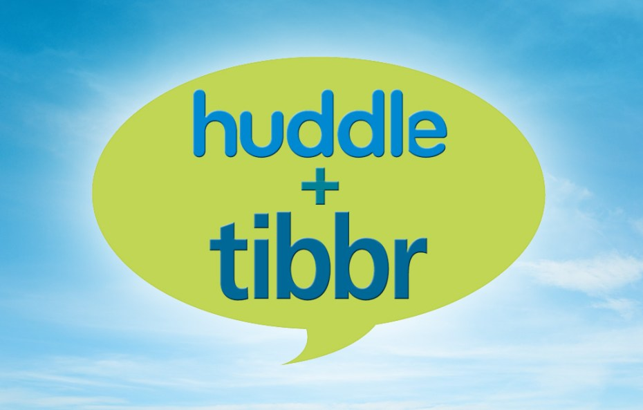 Huddle and Tibbr announced a partnership Wednesday