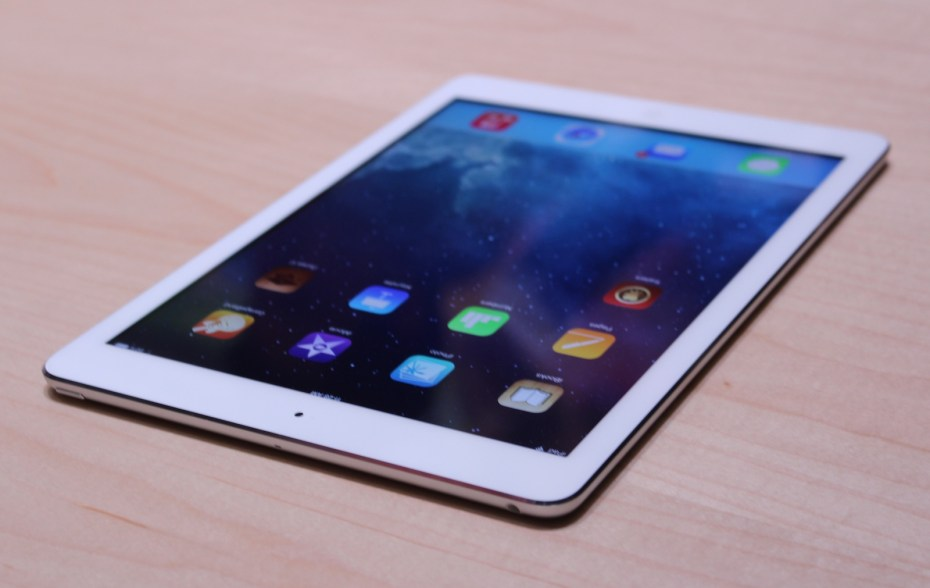 The iPad Air comes in white (with silver) or black (with space gray).