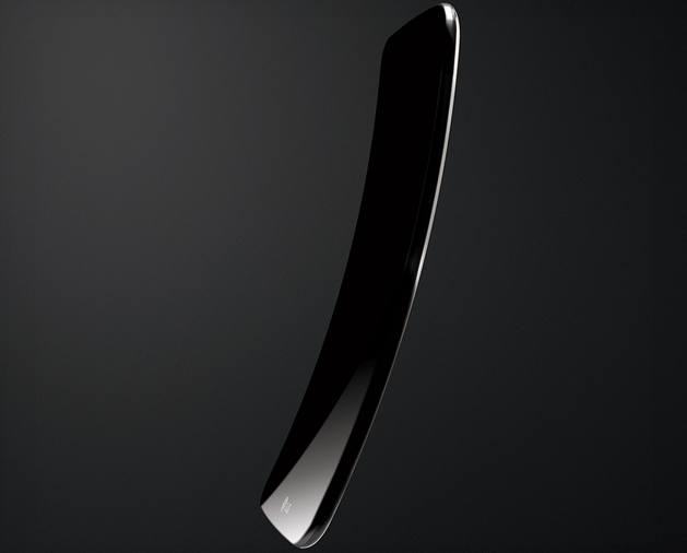 One of LG's first G Flex mockups -- notice how much more extreme this curve is than the final product