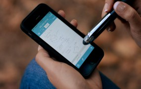 Livescribe 3 smartpen works with mobile devices.