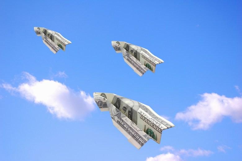 money clouds paper planes