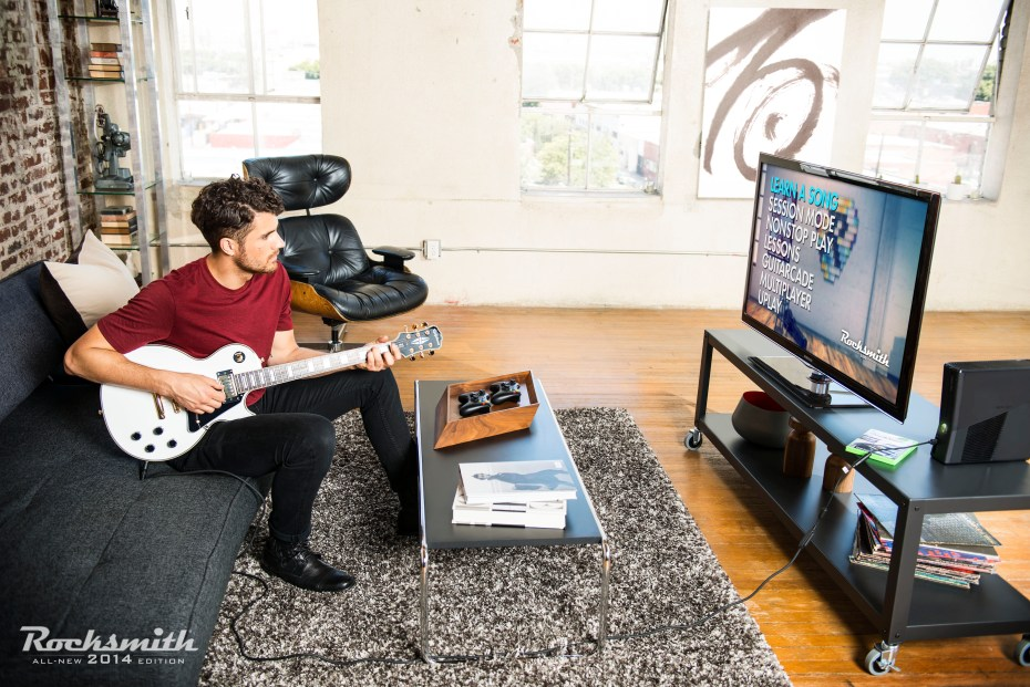 Rocksmith 2014 uses real guitars.