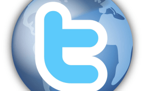 Twitter globe