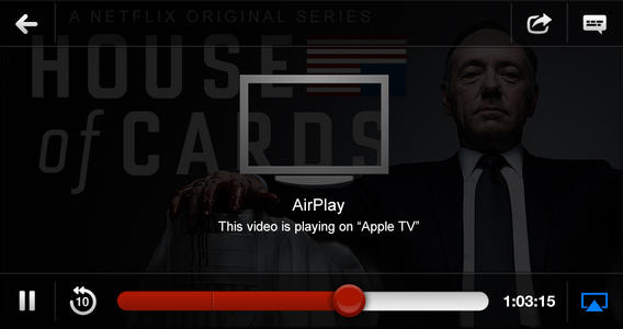 Netflix adds AirPlay streaming