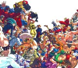 The huge cast of Street Fighter characters.