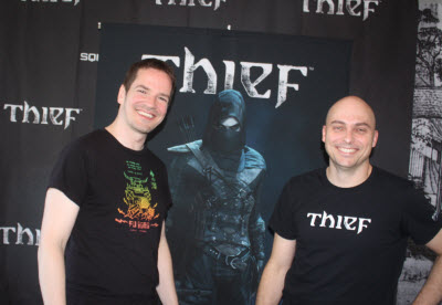 Steven Gallagher and Stephane Roy of Thief