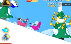 The upcoming Adventure Time game based on Defiant's Ski Safari.