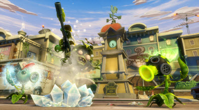 Garden Warfare assault zombie and pea shooter
