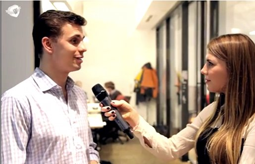 Lock8 founder Franz Salzmann being interviewed by VentureVillage.